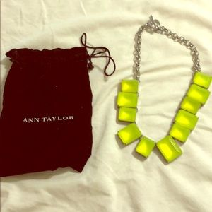 Ann Taylor Neon Green Necklace